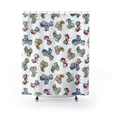 Fluffy Layers Tractor Time Shower Curtain-Home Decor-Fluffy Layers