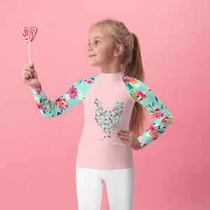 Fluffy Layers Floral Hen Rash Guard-Fluffy Layers