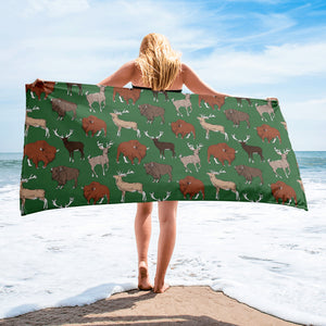 Fluffy Layers Little Wild Wyoming (green) Towel-Towel-Fluffy Layers