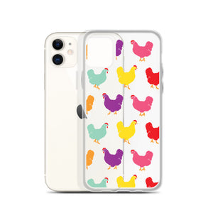 Fluffy Layers Rainbow Chickens iPhone Case - Fluffy Layers