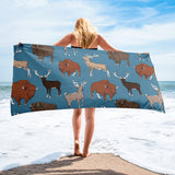 Fluffy Layers Little Wild Wyoming (blue) Towel-Towel-Fluffy Layers