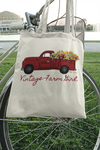 Fluffy Layers Red Truck Large Organic Tote Bag-Fluffy Layers