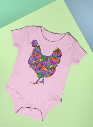 "Fluffy Layers ""Tropical Hen""Onesie-Fluffy Layers"