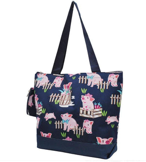 Fluffy Layers Precious Piglets Tote Bag-Fluffy Layers