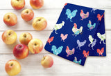 Fluffy Layers Rooster Garden Dish Towels-Fluffy Layers