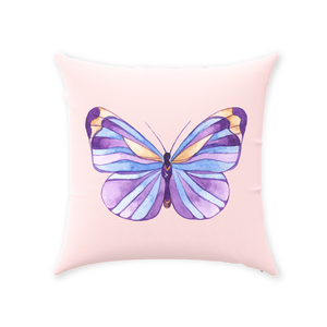 Fluffy Layers Ponies & Butterflies Throw Pillow-Fluffy Layers