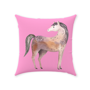 Fluffy Layers Springtime Dreams ( horse) Accent Pillow-Fluffy Layers