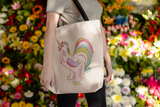 Fluffy Layers Chicken Unicorn Jumbo Beach Tote-Fluffy Layers