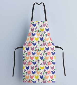 Fluffy Layers Tropical Chickens Kitchen Apron ( available in adult & youth sizes) - Fluffy Layers