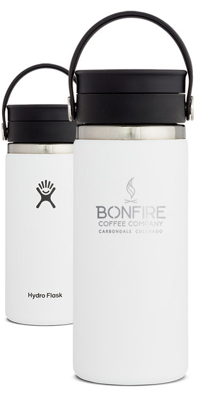 Bonfire Coffee Branded 16 oz Coffee Hydro Flask with Flex Sip™ Lid