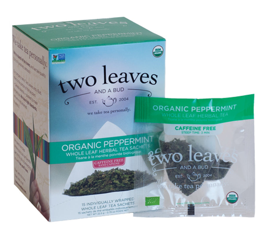Organic Peppermint Herbal Tea - Box of 15 Sachets