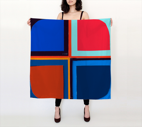 Beverly Fishman Scarf I - Large Square