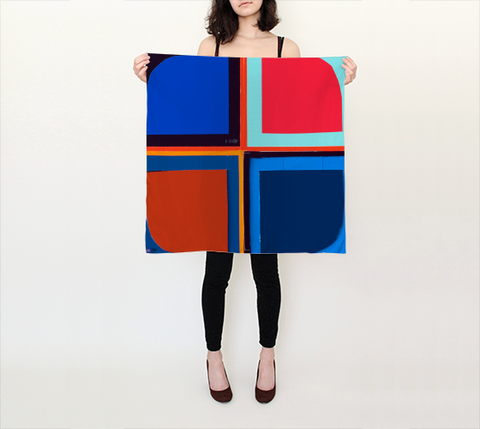 Beverly Fishman Scarf I - Square