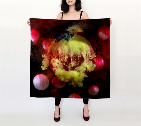 Kim Keever Large Square Scarf I