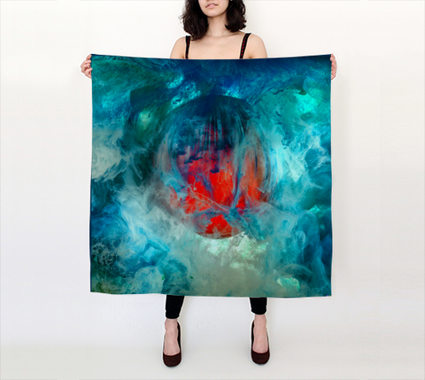 Kim Keever Large Square Scarf II