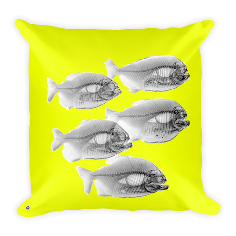 Steve Miller Pillow - Square - Neon Yellow / Piranha