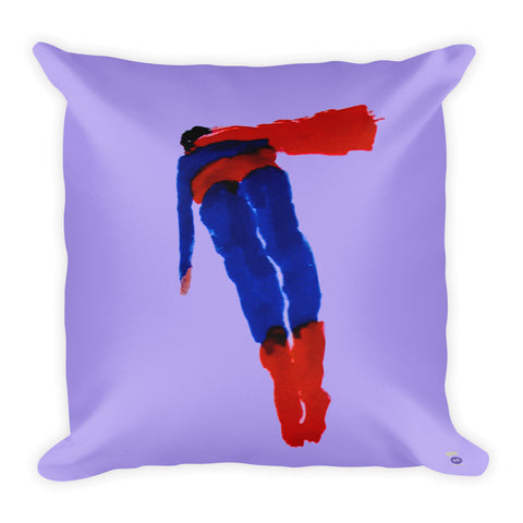 Katherine Bradford Pillow - Square - Flying Superhero