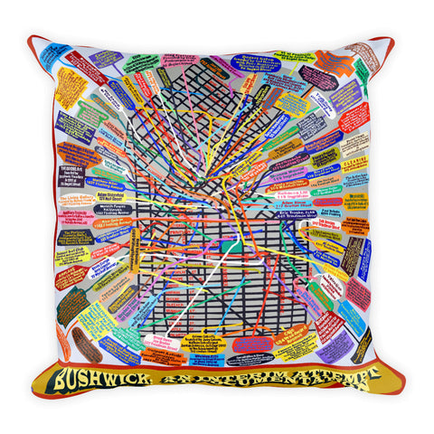 Loren Munk Pillow - Square - Bushwick