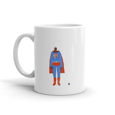 Katherine Bradford Mug - Black Male Superhero
