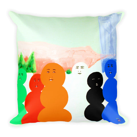 David Humphrey Pillow I - Square - Snowmen