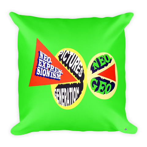 Loren Munk Pillow - Square I - 80's Art