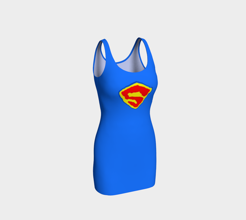 Katherine Bradford Dress - Bodycon - Superhero Insignia