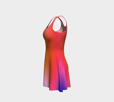 Anne Senstad Dress - Flare - Rainbow Gradient