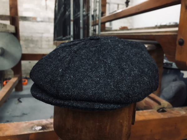 Charcoal Grey Coloured Windover Tweed Cap