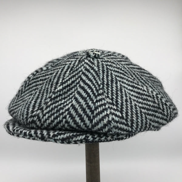 Heavyweight Grey Herringbone Windover tweed cap