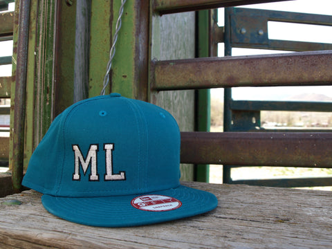 ML Teal Flat Bill Hat