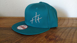 Trinity Teal Flat Bill Hat