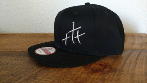 Trinity Black Flat Bill Hat