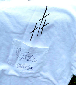 AUTOGRAPHED white shirts