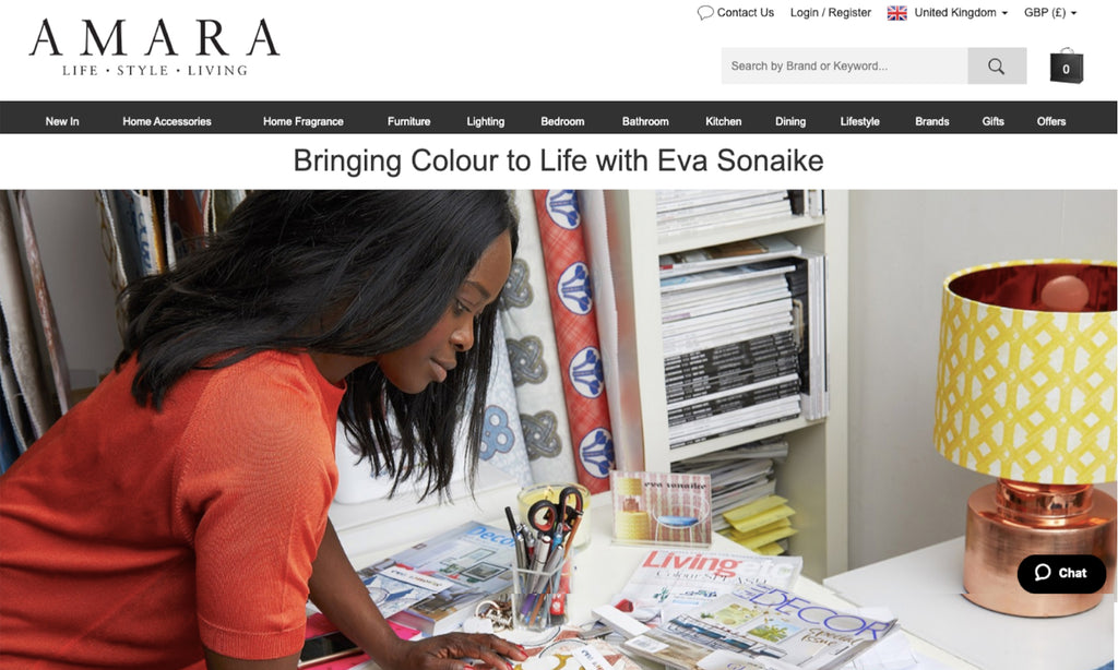 Eva Sonaike on Amara Living