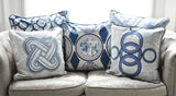 Ojo Cushion Blue