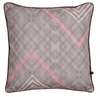 Purple African cushion with geometric pattern