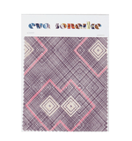 Elegant purple blue African interior fabric with geometric pattern
