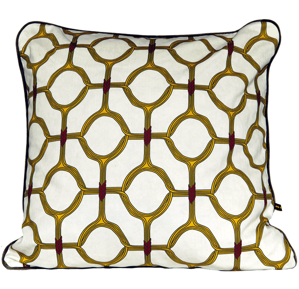 Ojo Cushion Yellow