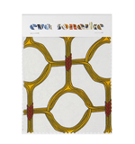 Elegant African interior fabric with yellow geometric circular pattern