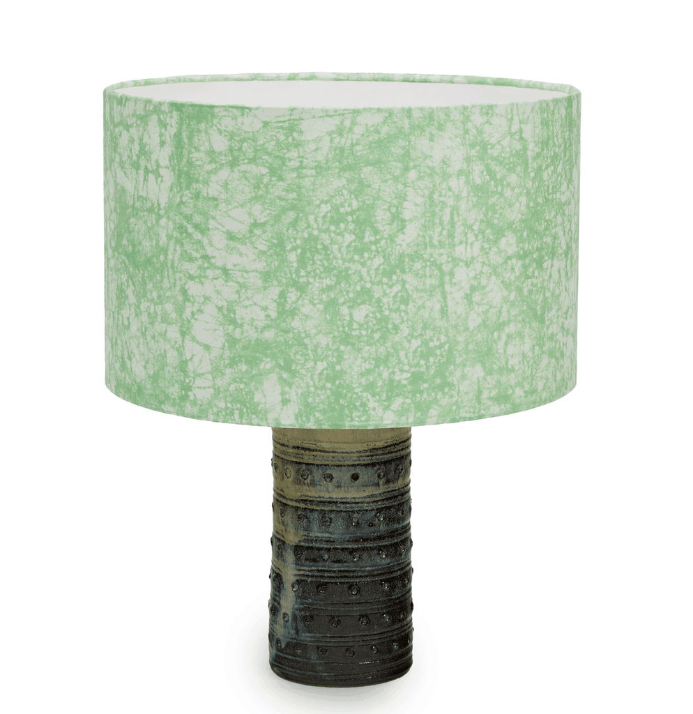 Luxury African lampshade with batik pattern in a soft velvet