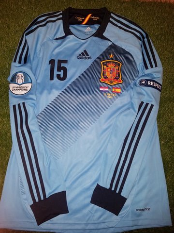 Ramos Spain MATCH ISSUED 2012 EURO CUP Jersey Camiseta Espana Shirt L