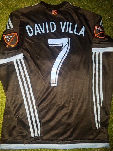 Villa New York FC 2015 2016 INAUGURAL SEASON ADIZERO PLAYER ISSUE Jersey Camiseta M M38946 AZB001