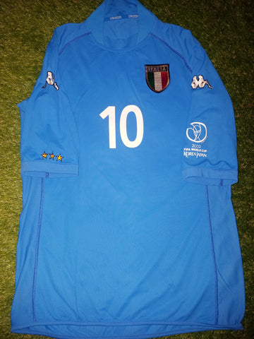 Totti Italy Kappa 2002 World Cup Home Jersey Shirt L