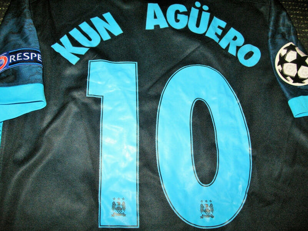Aguero Manchester City 2015 2016 PLAYER ISSUE Jersey Shirt Camiseta L - foreversoccerjerseys