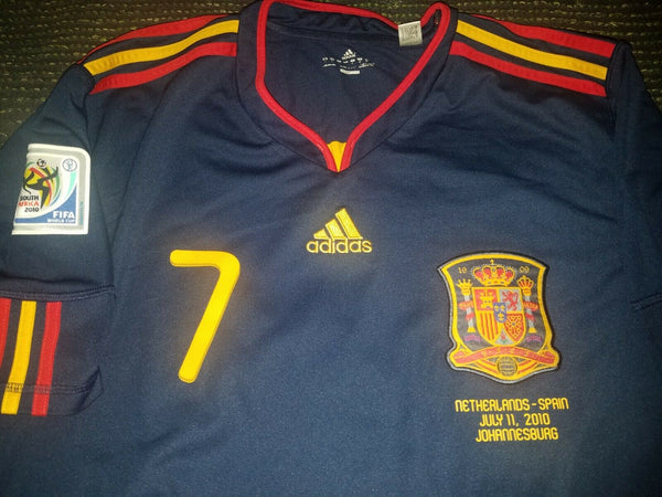 Villa Spain 2010 WORLD CUP FINAL Jersey Espana Camiseta Shirt XL - foreversoccerjerseys