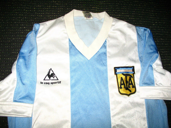 Argentina Le Coq Sportif 1984 1985 Jersey Shirt Trikot Camiseta Maglia M - foreversoccerjerseys