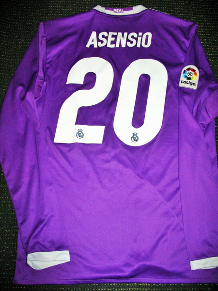 Asensio Real Madrid 2016 2017 Purple Long Sleeve Jersey Shirt Trikot - foreversoccerjerseys