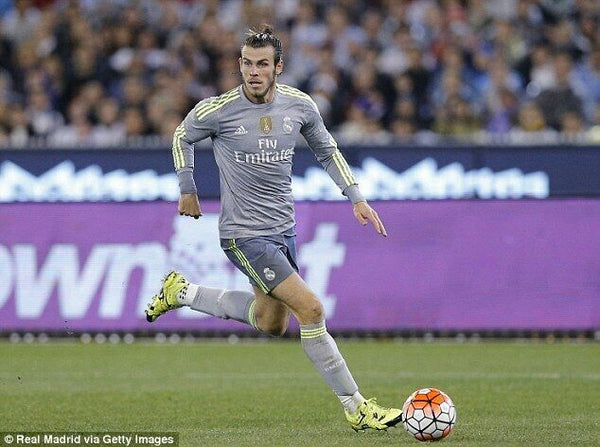 Bale Real Madrid 2015 2016 Long Sleeve Gray Jersey Camiseta Shirt Maglia L - foreversoccerjerseys