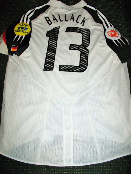Ballack Germany 2004 EURO MATCH ISSUED Jersey Spielertrikot Deutschland L - foreversoccerjerseys