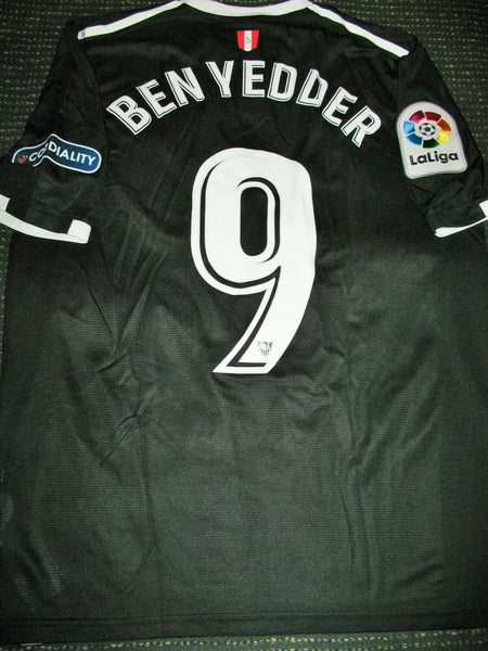 Ben Yedder Sevilla 2017 2018 Match Worn Black Jersey Issue Maillot - foreversoccerjerseys